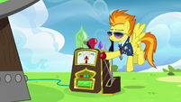 Spitfire starting up the Dizzitron S6E24