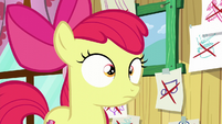 Apple Bloom hears Scootaloo S6E4