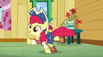 Apple Bloom square-dancing while yodeling S6E4