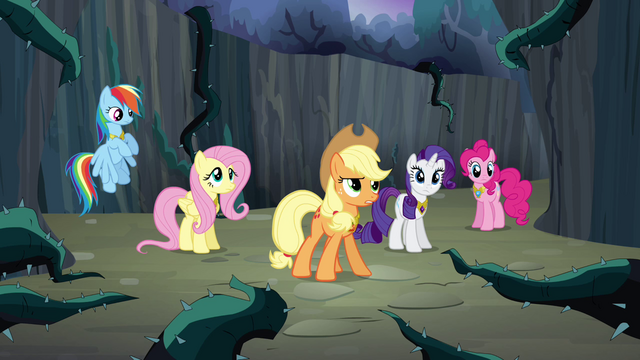 "File:Applejack ""let's save it already"" S4E02.png"