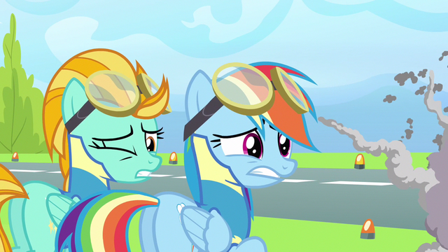 File:Rainbow Dash & Lightning Dust dang! S3E7.png