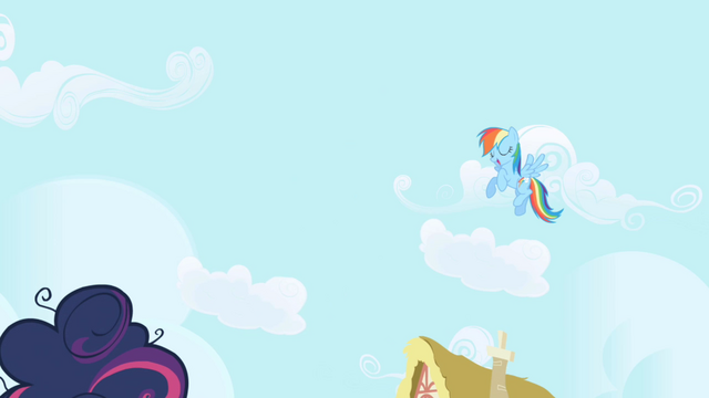 File:Rainbow Dash hovers over Twilight S1E01.png