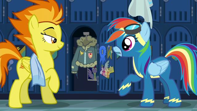File:Spitfire reveals Rainbow Dash's jacket S6E7.png