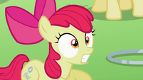 Apple Bloom reacted to Diamond Tiara's claim S2E06
