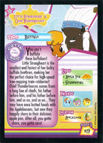 Little Strongheart & Chief Thunderhooves Enterplay series 2 trading card back