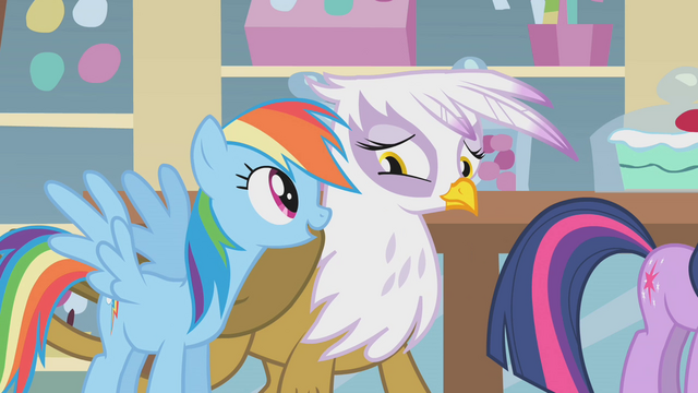 File:Rainbow Dash talking to Gilda S1E05.png