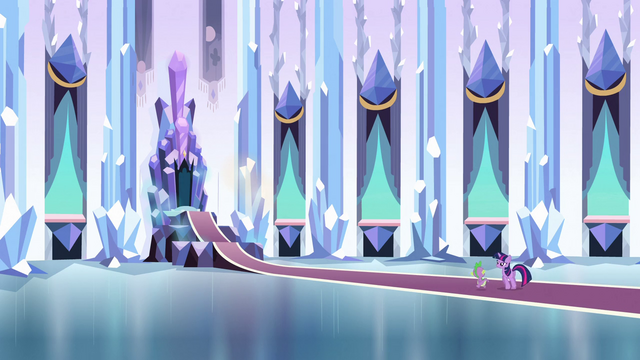 File:Twilight and Spike approaching the throne S3E2.png