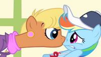 Ms. Harshwhinny in Rainbow Dash's face S04E05
