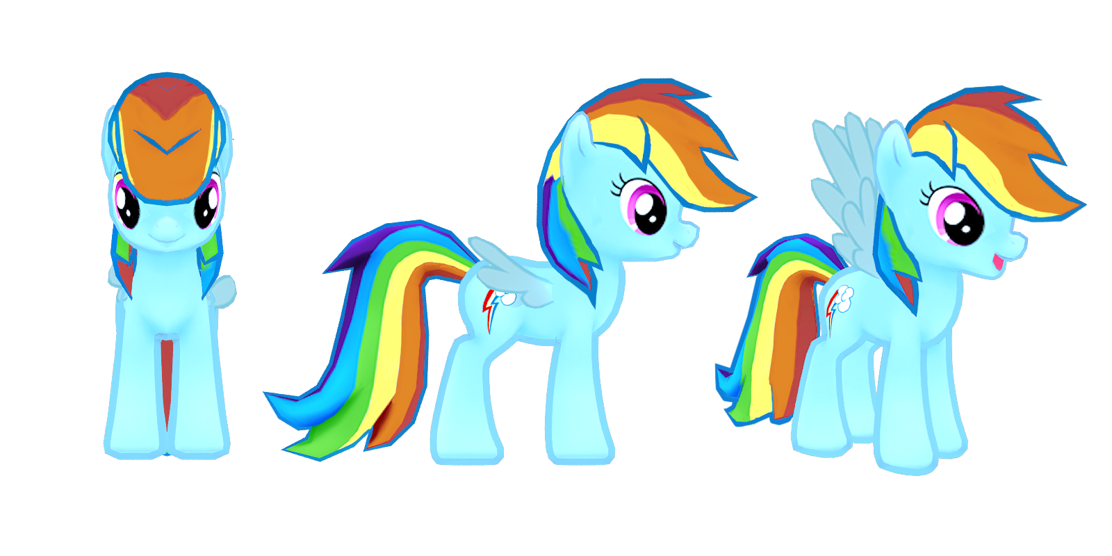 Image My Little Pony Mobile Game Rainbow Dash Model Png