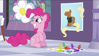 Pinkie with a big grin S2E25