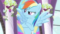 Rainbow Dash speaking to Rarity S4E01