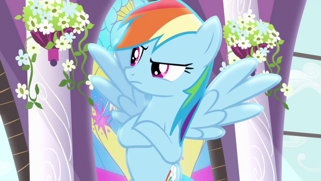 File:Rainbow Dash speaking to Rarity S4E01.png
