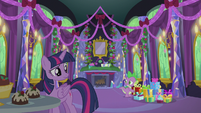 Twilight and Spike hear something in the chimney S5E20