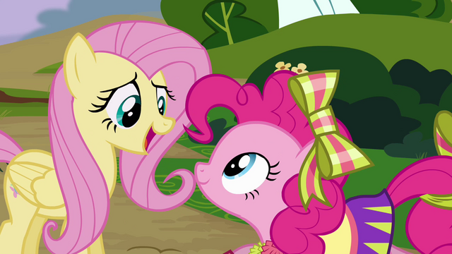 File:Fluttershy 'thanks, Pinkie Pie' S4E10.png