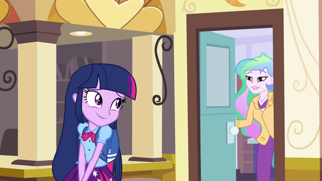 "File:Twilight and Celestia ""my door is always open"" EG.png"