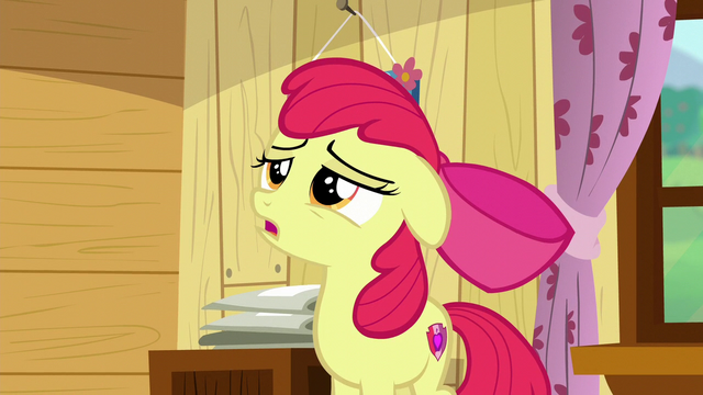 "File:Apple Bloom sings ""I guess as time"" S6E4.png"