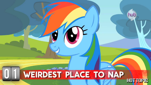 "File:Hot Minute with Rainbow Dash ""I once dozed off in a thundercloud"".png"