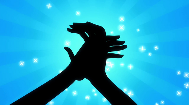 File:Abstract Pinkie Pie clapping her hands EG2.png