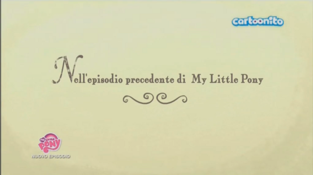 File:Italian 'Previously on My Little Pony' - Season 5.png