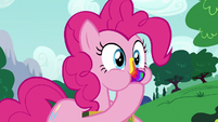 Pinkie Pie eating another joke cookie S6E15