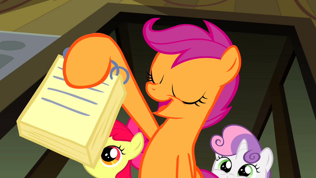 File:Scootaloo presenting her news entry S2E23.png