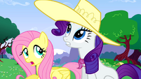 Fluttershy and Rarity enjoy the weather S02E25