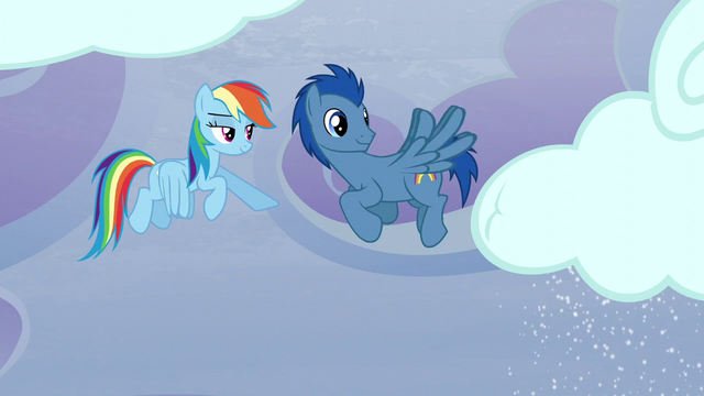File:Rainbow gives a sign to a Pegasus pony S5E5.png