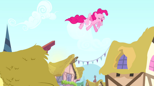 File:Pinkie Pie on the rooftops S4E12.png