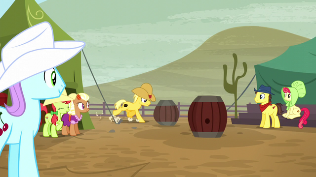 File:Ponies watching barrel racing S5E6.png