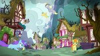 Ponyville in destructive chaos S5E4