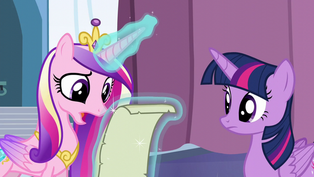 "File:Cadance ""It looks right to me, but"" S6E2.png"