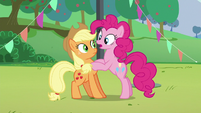 "Pinkie's second ""how""; Pinkie puts her hooves on Applejack S5E24"