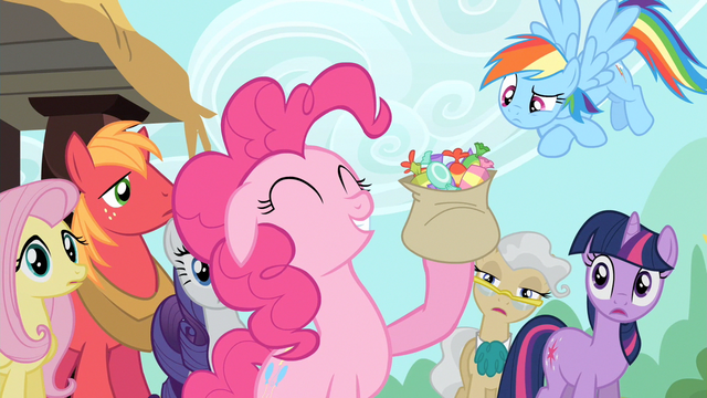 File:Pinkie Pie eating lots of taffy S2E14.png