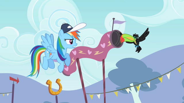 "File:Rainbow Dash ""Pretty agile"" S2E07.png"