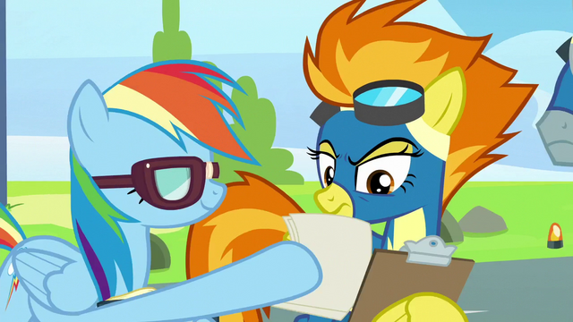 File:Rainbow giving Spitfire checklists S6E7.png