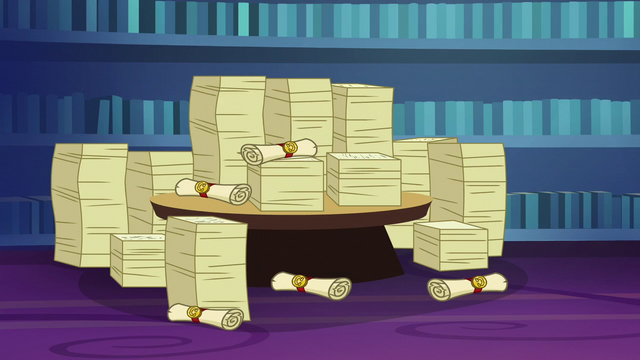 File:Piles of friendship lesson papers S6E1.png
