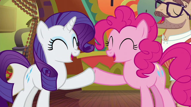File:Rarity and Pinkie Pie hoof-bump S6E12.png