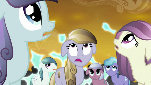 File:Crystal ponies watch Cadance's shield fail S3E02.png
