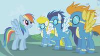 Rainbow Dash's fantasy with the wonderbolts S1E3