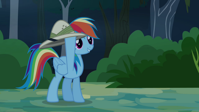 "File:Rainbow Dash ""I've got your hat!"" S4E04.png"