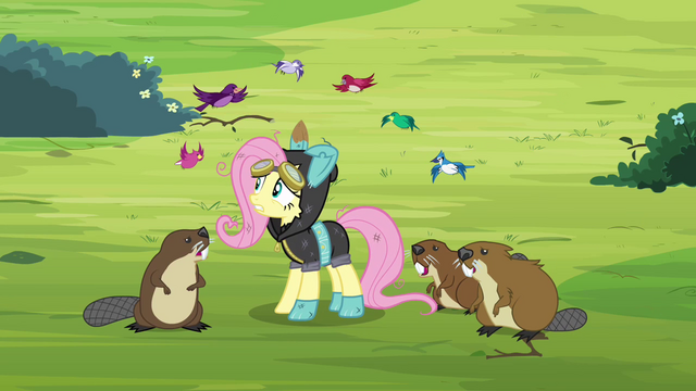 File:Animals surrounding Fluttershy S3E05.png