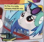 DJ Pon-3 unhappy about rain UK Magazine 42