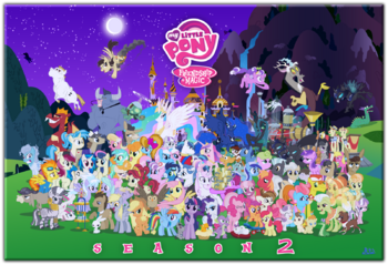FANMADE Mlp fim s2 character cluster fun by blue paint sea-d4xfkf5