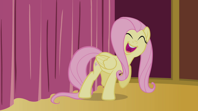 File:Fluttershy singing behind the curtain S4E14.png