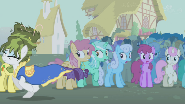 File:Rarity running away with Golden Harvest in background S1E6.png