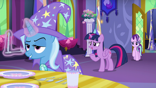 "File:Twilight ""what brings you to Ponyville?"" S6E6.png"