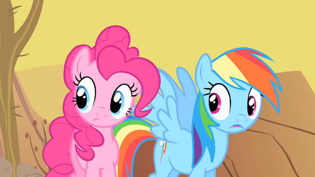 File:Pinkie Pie and Rainbow Dash astonished by Spike's rapport with the buffalo S1E21.png