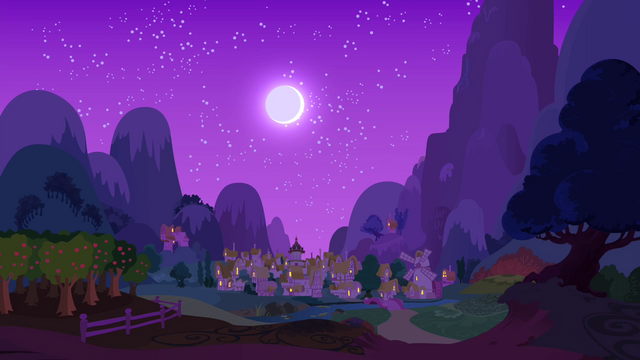 File:Ponyville at night S4E14.png