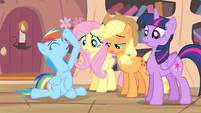 Rainbow Dash being dramatic S4E7
