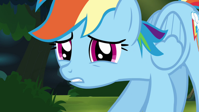 "File:Rainbow tells herself to ""think fast"" S4E04.png"